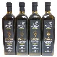 Attica Food оливковое масло Extra Virgin нефильтрованное 0,2% (4шт х 1л) стекло