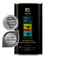 Sellas оливковое масло Extra Virgin 0,3% c п/o Пелопоннес 1л жесть