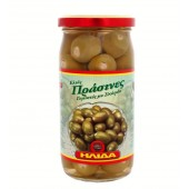 Ilida зеленые оливки с чесноком 350г стекло