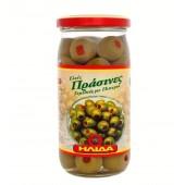 Ilida зеленые оливки с перцем 350г стекло