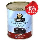 Delphi маслины COLOSSAL 121/140 б/к в рассоле 820г жесть