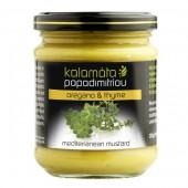 Kalamata Papadimitriou горчица с душицей и чабрецом 200г стекло