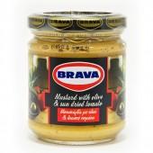 Brava горчица с оливковым маслом и вяленными помидорами 200г стекло