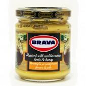Brava горчица co средиземноморскими травами и медом 200г стекло