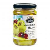 """Delphi артишоки в масле с сушеными томатами и маслинами """"Kalamata"""" 270г стекло"""