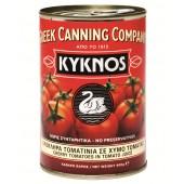 Kyknos томаты целые черри в собственном соку 400г жесть