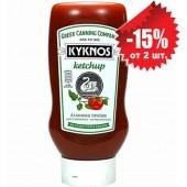 Kyknos томатный кетчуп сладкий 580г пластик