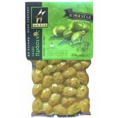 Astir зеленые оливки с орегано 250г вакуум