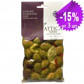 """Attica Food гигантские оливки с косточкой """"Damaskino"""" с орегано 250г вакуум"""