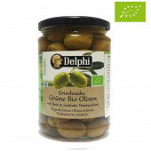 Delphi зеленые оливки Organic (Bio) в рассоле 290г стекло
