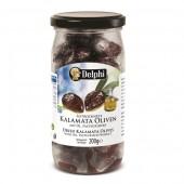 """Delphi маслины """"Kalamata"""" сушеные c п/o Пелопоннес 200г стекло"""