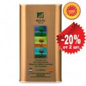 Sellas оливковое масло Extra Virgin 0,3% Kalamata P.D.O. c п/o Пелопоннес 1л жесть