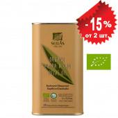 Sellas оливковое масло Extra Virgin 0,3% Organic (Bio) c п/o Пелопоннес 1л жесть