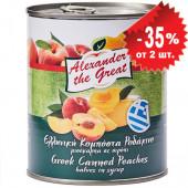 Alexander the Great половинки персиков в сиропе (сладость 17-19 brix) 820г жесть