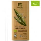 Sellas оливковое масло Extra Virgin 0,3% Organic (Bio) c п/o Пелопоннес 5л жесть (1л=848р)