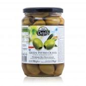 Delphi зеленые оливки б/к в рассоле 700г стекло