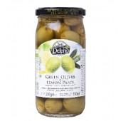 Delphi зеленые оливки фаршированные лимоном в рассоле 350г стекло