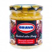 Brava горчица с зернами острая 200г стекло