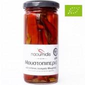 Naoumidis перец красный острый дольками Organic (Bio) 260г стекло