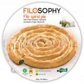 IONIKI пирог «Филло» с сыром «Фета», шпинатом и оливковом маслом спиральный 850г
