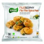 IONIKI пирожки спиральные «Филло» с сыром «Фета», шпинатом и оливковым маслом  500г