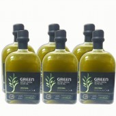 Attica Food оливковое масло GREEN Extra Virgin нефильтрованное 0,2% с п/о Пелопоннес 6штх500мл стекло (1шт=664р)