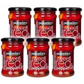 Royal перец красный сладкий фаршированный сыром PEPPADORO 6штх250г стекло (1шт=348р)