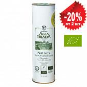 Agia Triada Монастырское оливковое масло Extra Virgin Organic (Bio) с о.Крит 750мл жесть