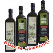 НАБОР 2шт Terra Creta Estate оливковое масло Extra Virgin P.D.O. Kolymvari с о.Крит 1л стеклo + 2шт Attiсa Food оливковое масло Extra Virgin c п/o Пелопоннес 1л стекло (1шт=1024р)