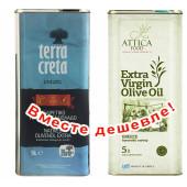 Набор Terra Creta Estate оливковое масло Extra Virgin с о.Крит 5л жесть + Attica Food оливковое масло Extra Virgin c п/o Пелопоннес 5л жесть