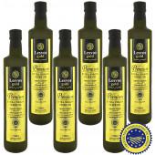Lesvos gold P.G.I. оливковое масло Extra Virgin PREMIUM 0,2% с о.Лесбос 6штх500мл стекло (1шт=632р)