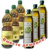 НАБОР 3шт Attica Food оливковое масло Pomace 1л пластик + 3шт CRETAN MILL оливковое масло Pomaлаce 1л пстик (1шт=399р)