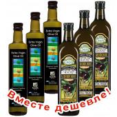 НАБОР 3шт Sellas оливковое масло Extra Virgin 0,3% c п/o Пелопоннес 750мл стекло + 3шт Delphi оливковое масло Extra Virgin P.D.O. Kolymvari с о.Крит 750мл стекло (1шт=671р)