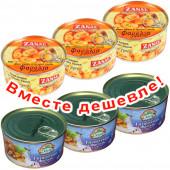 НАБОР 3шт Zanae печеная гигантская фасоль в томатном соусе 280г жесть + 3шт Delphi печеная гигантская фасоль в томатном соусе 280г жесть (1шт=220р)