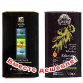 НАБОР Sellas оливковое масло Extra Virgin 0,3% c п/o Пелопоннес 3л жесть + Delphi оливковое масло Extra Virgin 0,3% P.D.O. Kalamata c п/o Пелопоннес 3л жесть (1шт=2223р)