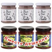 НАБОР 3шт Attica Food паста из черных маслин 180г стекло +3шт Delphi паста из маслин 190г стекло (1шт=193р)