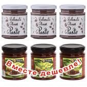 """НАБОР 3шт Attica Food паста из оливок """"Kalamata"""" 180г стекло + 3шт Delphi паста из маслин """"Kalamata"""" 190г стекло (1шт=193р)"""
