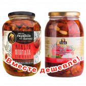 НАБОР Kontos томаты вяленые в подсолнечном масле 1600г стекло + Delphi томаты сушеные в подсолнечном масле 1850г стекло (1шт=1185p)