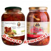 НАБОР Kontos томаты вяленые в подсолнечном масле 1600г стекло + Delphi томаты сушеные в подсолнечном масле 1850г стекло (1шт=1228p)