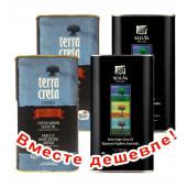 НАБОР 2шт Terra Creta Estate оливковое масло Extra Virgin с о.Крит 1л жесть + 2шт Sellas оливковое масло Extra Virgin 0,3% c п/o Пелопоннес 1л жесть (1шт=960р)