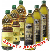 НАБОР 3шт Attica Food оливковое масло Pomace 1л пластик + 3шт Delphi монастырское оливковое масло Pomace 1л пластик (1шт=373р)