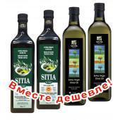 НАБОР 2шт Sitia оливковое масло Extra Virgin 0,3% P.D.O. Sitia с о.Крит 1л стекло + 2шт Sellas оливковое масло Extra Virgin 0,3% c п/o Пелопоннес 1л стекло (1шт=875р)
