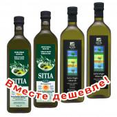 НАБОР 2шт Sitia оливковое масло Extra Virgin 0,3% P.D.O. Sitia с о.Крит 1л стекло + 2шт Sellas оливковое масло Extra Virgin 0,3% c п/o Пелопоннес 1л стекло (1шт=901р)
