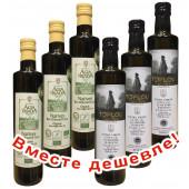 НАБОР 3шт Agia Triada Монастырское оливковое масло Extra Virgin Organic (Bio) с о.Крит 500мл стекло + 3шт Масло оливковое Extra Virgin Olive Oil Монастырское TOPLOU P.D.O. SITIA 500мл стекло (1шт=650р)