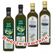 НАБОР 2шт Sitia оливковое масло Extra Virgin 0,3% P.D.O. Sitia с о.Крит 1л стекло + 2шт Agia Triada Монастырское оливковое масло Extra Virgin с о.Крит 1л стекло (1шт=914р)