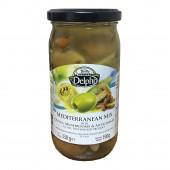 Delphi Средиземноморский микс с оливками, грибами и артишоками в масле 330г стекло