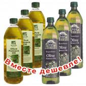 НАБОР 3шт Sellas оливковое масло Pomace c п/o Пелопоннес 1л пластик + 3шт Delphi оливковое масло Pomace 1л пластик (1шт=399р)