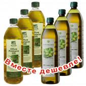 НАБОР 3шт Sellas оливковое масло Pomace c п/o Пелопоннес 1л пластик + 3шт CRETAN MILL оливковое масло Pomace 1л пластик (1шт=399р)