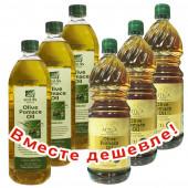 НАБОР 3шт Sellas оливковое масло Pomace c п/o Пелопоннес 1л пластик + 3шт Attica Food оливковое масло Pomace 1л пластик (1шт=399р)