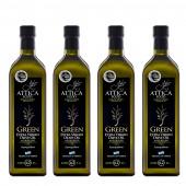 Attica Food оливковое масло GREEN Extra Virgin нефильтрованное 0,2% с п/о Пелопоннес 4штх1л стекло (1шт=952p)
